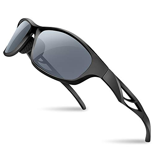 Lixada Polarized Sports Sunglasses Driving Glasses Shades with Case (Grey) Only $9.98