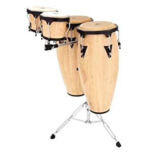 latin percussion lpa656k aw aspire wood 10 inch and 11 inch conga set with double. Black Bedroom Furniture Sets. Home Design Ideas