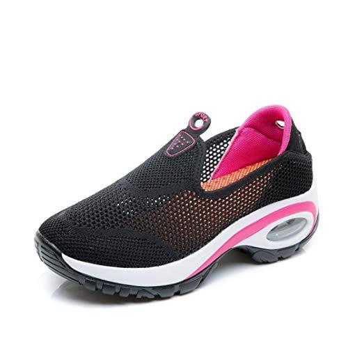 T-JULY Women Sneakers Flats Shoes Mesh Slip on Tenis Ladies Platform Casual Shoes Creeper Mocassin -