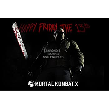 CGC Huge Poster - Moetal Kombat X Jason PS3 XBOX ONE XL - EXT413 (24