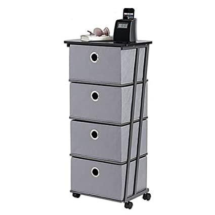 Studio 3B™ 4 Drawer Storage Cart In Grey