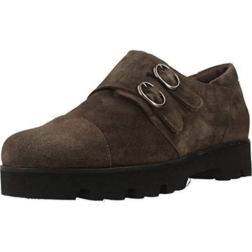 Marrón Mujer Marca Zapatos Mateo Mujer De Marrón 3350m Color Miquel Para Cordones Modelo Miquel xqqXw4B