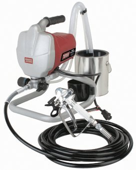 5/8 HP 3000 PSI Airless Paint Sprayer Kit; Includes Stainless Steel Paint pick-up, Gun with Built-in Filter, trigger-lock and 25 ft. spray hose by Krause & Becker