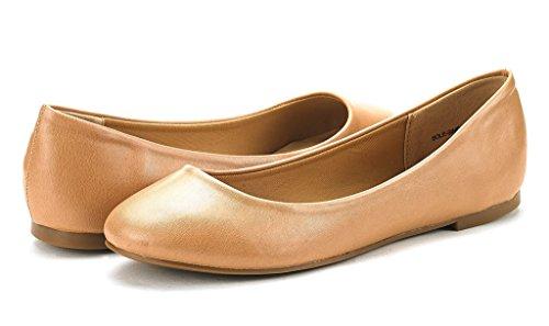 DREAM PAIRS Damen Sole Einfache Ballerina Walking Wohnungen Schuhe Nacktes Pu