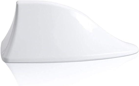 Antena Shark aleta de tiburón coche señal Radio FM AM Car Tuning blanco compatible con Qashqai X-Trail Sunny ABQ1