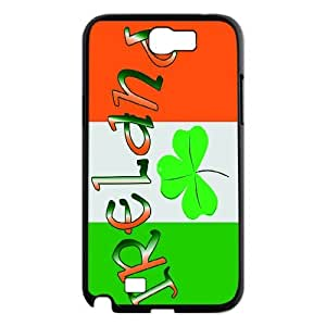 FOR Samsung Galaxy Note 2 Case -(DXJ PHONE CASE)-Irish Flag with Celtic Clover-Lucky Clover-PATTERN 7