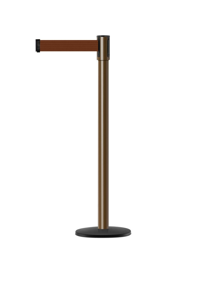 Tensabarrier - 890B-33-46-46-STD-NO-N7X-C - brown post, 2'' wide, 7'6'' length Brown belt
