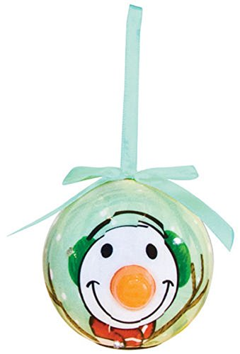 Hand Painted Glass Carousel (D&D Blinking Christmas Character Ornament With Extra Batteries (Snowman Carrot Nose))