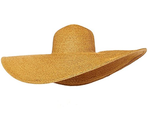 RPI Huge Two-Tone Floppy Sun Hat, Super Wide Brim Beach Hat, SunBlocker Hat, UPF 50+