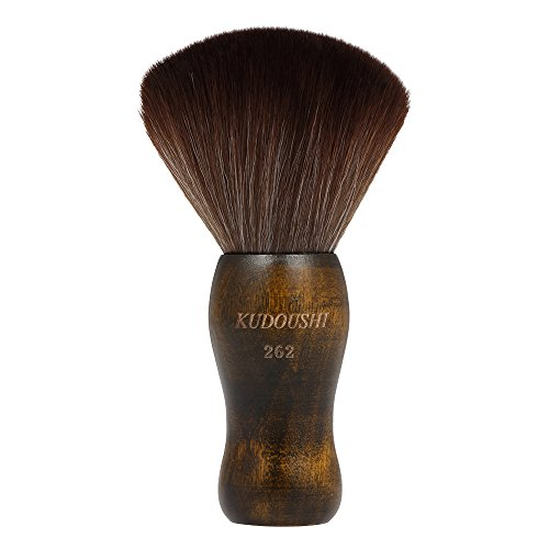 Marvy Neck Duster - Anself Large Hair Cutting Neck Duster Brush Professional Barber Natural Fiber Wooden Handle Cutting Kits