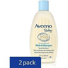 Aveeno Baby Wash & Shampoo For Hair & Body, Tear-Free, 8 fl. Oz (Pack of 2)