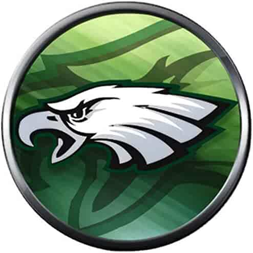 5157d26e Fashion Snap Jewelry NFL Logo Philadelphia Eagles Screaming Eagle Football  Team Spirit 18MM - 20MM Charm