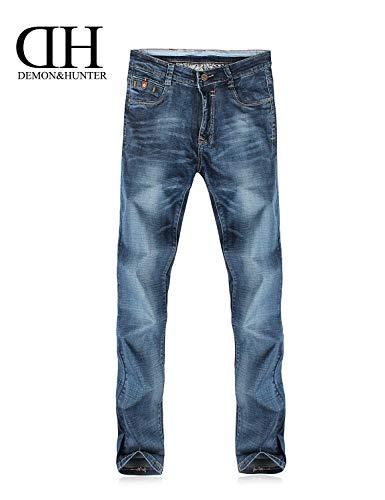 Slim Battercake Cómodo Los Fit Azul De Hombres Mezclilla Casuales Pantalones Blau Jeans rwcRqrIWH