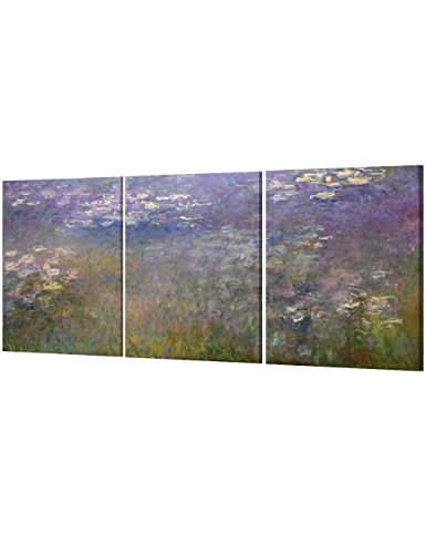 DecorArts Lilies Giverny Triptych Reproduction