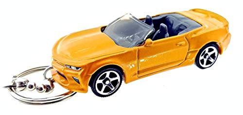 Matchbox Chevy Camaro Diecast Keychains (2016 Camaro Convertible Orange Keychain)
