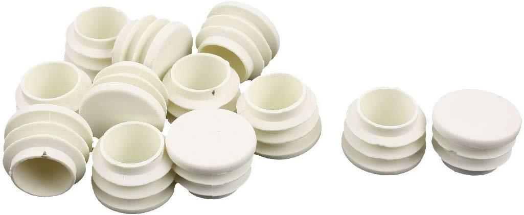 color blanco Agger Tapones de pl/ástico para tapones de tubo de 25 mm de di/ámetro 12 unidades
