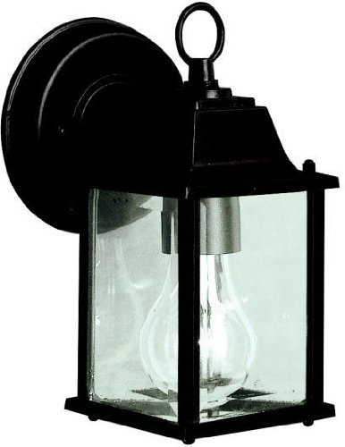 (Kichler 9794BK Barrie Outdoor Wall 1-Light, Black)
