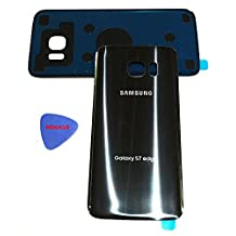 (md0410) Galaxy S7 EDGE OEM BLACK ONYX Rear Back Glass Lens Battery Door Housing Cover + Adhesive Replacement For G935 G935F G935A G935V G935P G935T with adhesive and opening tool