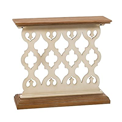 Cape Craftsmen 8HTW028 Evergreen Pine Hall Table with Antique White Lattice Design