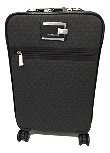 Michael Michael Kors Signature Travel Trolley Rolling Carry On Black PVC