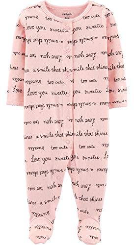 Carter's Baby Girls' 1 Pc Cotton 331g244 (3 Months, Love You/Pink)]()