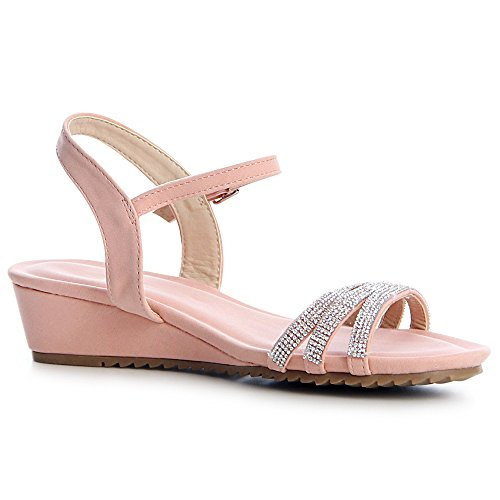 topschuhe24 Sandalettes Femmes topschuhe24 Femmes Sandales Rose xgZYZwd