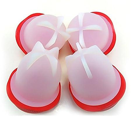 rot Antihaft Eier Kochen ohne Schale Wie IM TV Gesehen Energystation Silikon Egg Cooker BPA Frei Egglettes 6 pcs Eggies Eierkocher Schnelle und Einfache