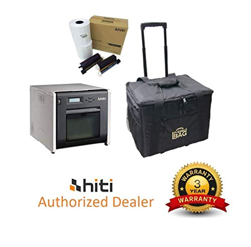 Hiti P525L Photo Printer. Bundle with Box of Hiti 4x6 Media Paper & Ribbon (1.000 Prints) and Our Exclusive Printerbag Brand Rolling Carrying case.