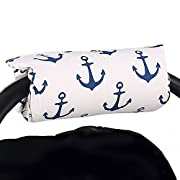 Navy Blue Anchor Car Seat and Baby Carrier Cushion by The Peanut Shell