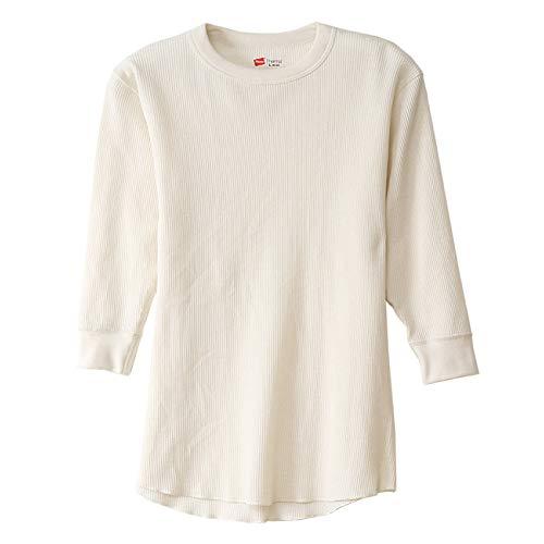 補助金グッゲンハイム美術館野望(へインズ) Hanes サーマル クルーネック 3/4 Tシャツ 7分袖 メンズ レディース HM4-N504