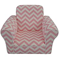 Fun Furnishings Pink Chevron Toddler Rocker