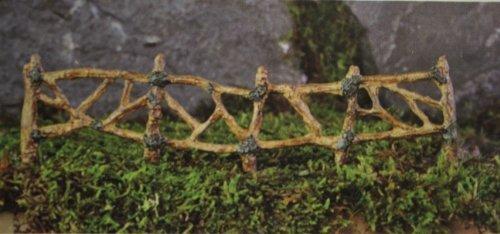 Fiddlehead Fairy Garden Woodland Twig Fence Section #16819