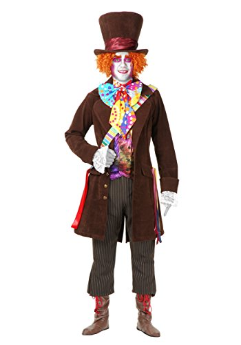 Charades Men's Mad Hatter Adult Costume - X-Large -