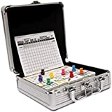 Cardinal Mexican Train Domino Game with Aluminum Case Effect Train Dominoes Set BigforKids Garge Toard Mexican Trains Original Pieces Toy Kit ClassicTravel Case Set & E Book by Easy2Find.