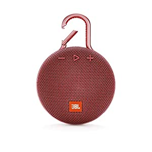 JBL Clip 3 by Harman Ultra-Portable Wireless Bluetooth Speaker with Mic (Red)