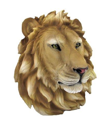 Resin Sculpture African Lion Head Figure Wall Art Statue