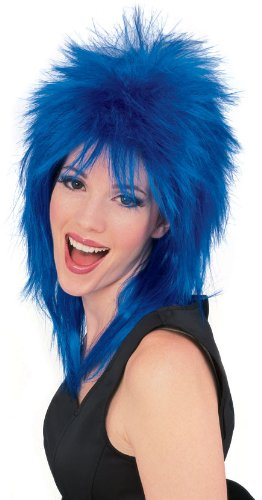 Rubie's Costume Rock Star Spiked Wig, Blue, One Size