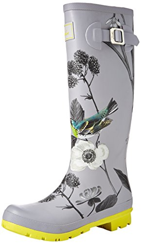 Joules Womens Welly Print Silver (Slvbrby)