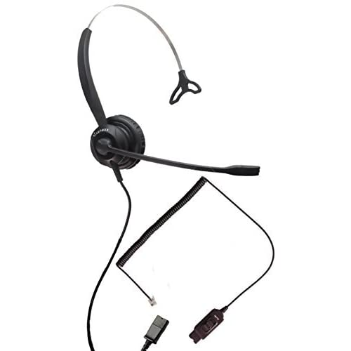 Avaya Compatible Headset XS 820 w/Mute | Avaya IP Phones: 1608, 1616
