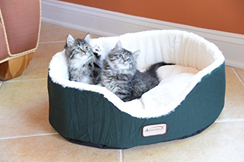 Armarkat Pet Bed 22-Inch by 19-Inch Oval - Laurel Green