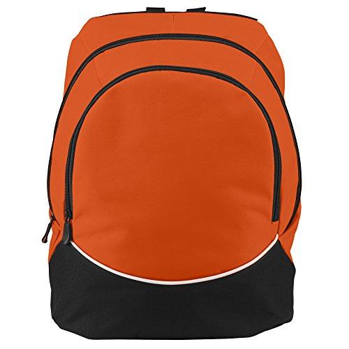 Augusta Sportswear Large Tri-Color Backpack, One Size, Orange/Black/White (Color Bag Tri Sport)