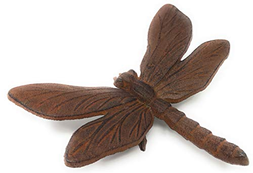 Miller Horticultural Cast Iron Dragonfly Paperweight or Figurine, 6.5 Inches ()