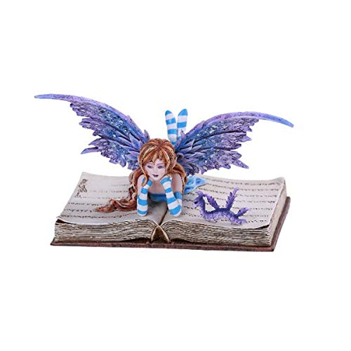 Pacific Giftware PT Amy Brown Art Original Collection Bookworm FAE Resin Collectible Figurine