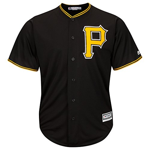 Pittsburgh Pirates Youth Cool Base Alternate Team Jersey Black (Medium)