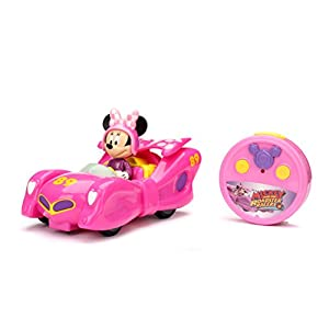 Jada Toys Disney Mickey and the Roadster Minnie Bow Racer Car RC/Radio Control Toy Vehicle, Pink