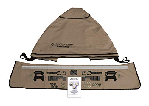 GenTent 10k Generator Tent Running Cover - Universal Kit (Standard, TanLight) - Compatible with 3000w-10000w Portable Generators by GenTent Safety Canopies (Image #3)