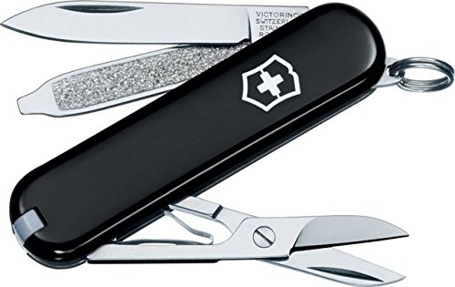 y Classic SD Multi-Tool Folding Pocket Knife - Black 53003 (Victorinox Classic Swiss Army Knife)