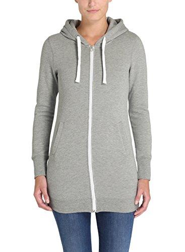 DESIRES Derby Long - Sudaderas con capucha para Mujer Light Grey Melange