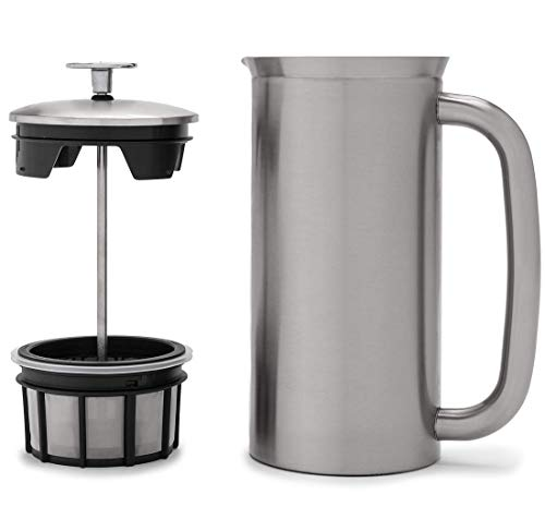 Espro Coffee Press P7-32 oz, Vacuum Insulated, Brushed Stainless Steel