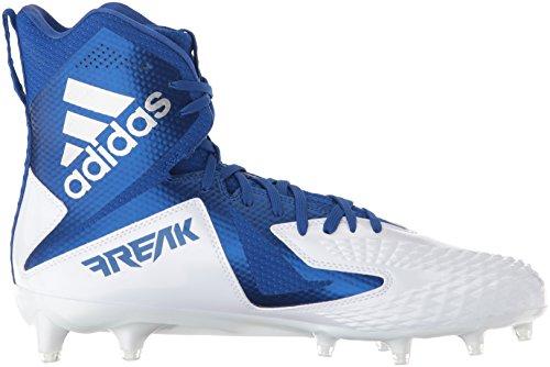 Adidas Heren Freak X Carbon Mid Voetbalschoen Wit / Collegiaal Royal / Collegiaal Royal